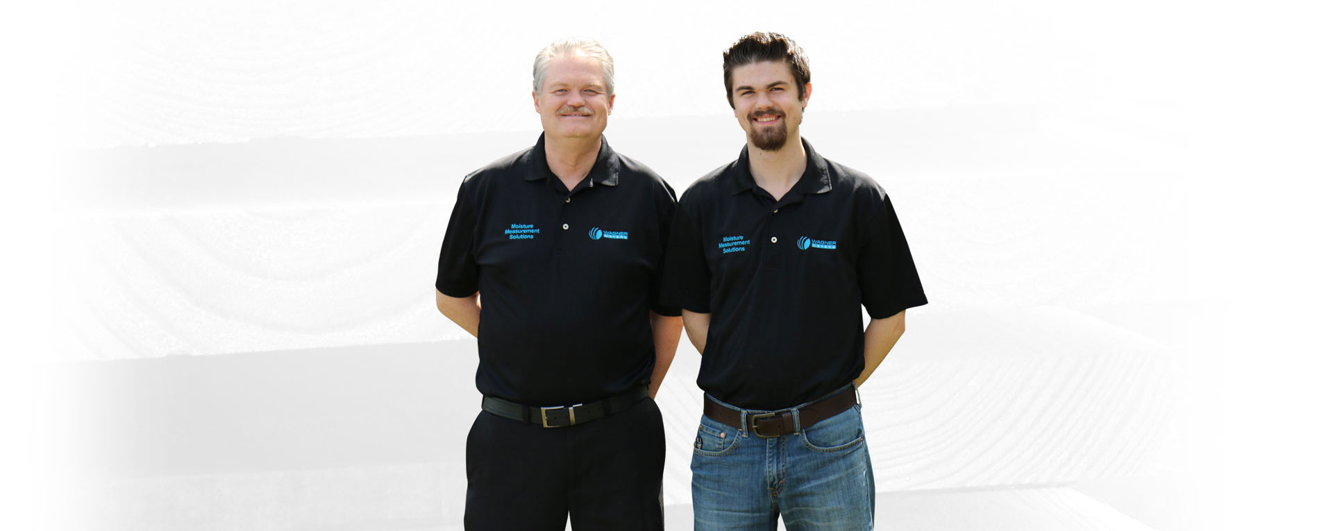 Ed Wagner President and CEO standing with his son Eric Wagner. Wagner Meters is a family-owned company.