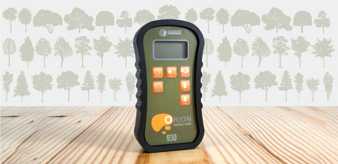 Featuring the Orion 930 wood moisture meter