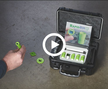 Watch the video to learn how to easily use the Rapid RH and perform a moisture test