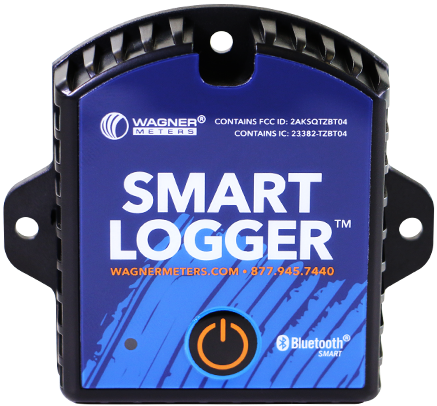 The Smart Logger monitors ambient temperature and humidity conditions