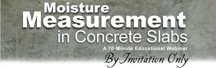Moisture Measurement in Concrete Webinar