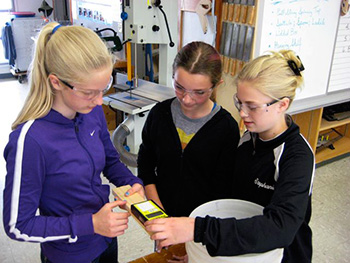 Students Learn Moisture Meters