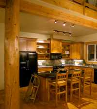 Half Log Cabin Interior