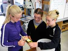 3 Girls Using MMC220 Wood Moisture Meter