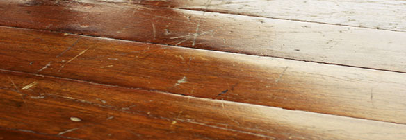 Scuffed Wood Floor