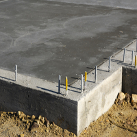 drying concrete slab