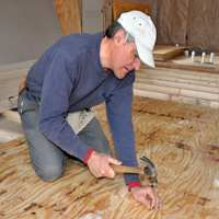 Nailing Down Subfloor