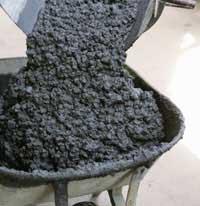 Wet Concrete Mixture