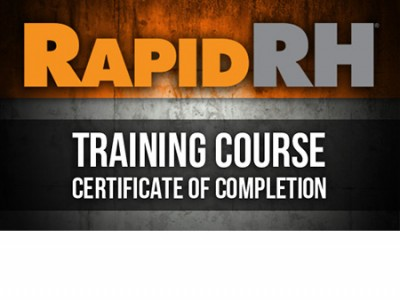 Rapid RH® Training Certificate of Completion