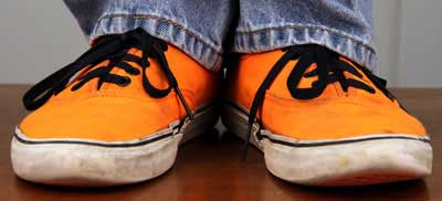 Jasons Orange Shoes