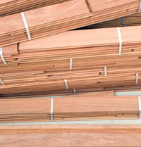 Hardwood Floor Planks Stack