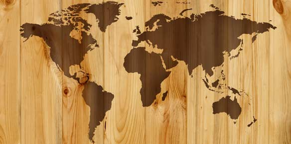 Map on Wood