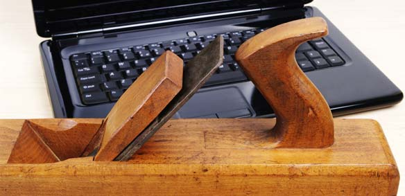 Wood Planer and Computer