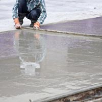 Working with Wet Concrete
