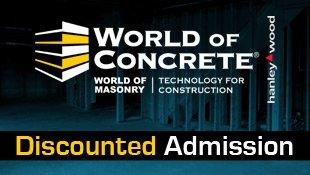 World of Concrete Admission