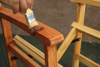 Varnishing furniture
