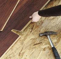 Subfloor under flooring