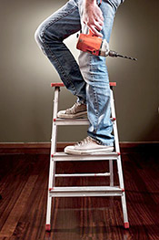 Man on Ladder