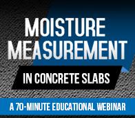 Moisture Measurement in Concrete Slabs