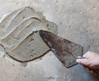 Troweling Wet Concrete