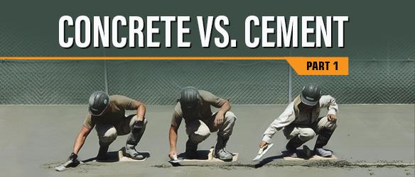 Concrete vs Cement - Part 1