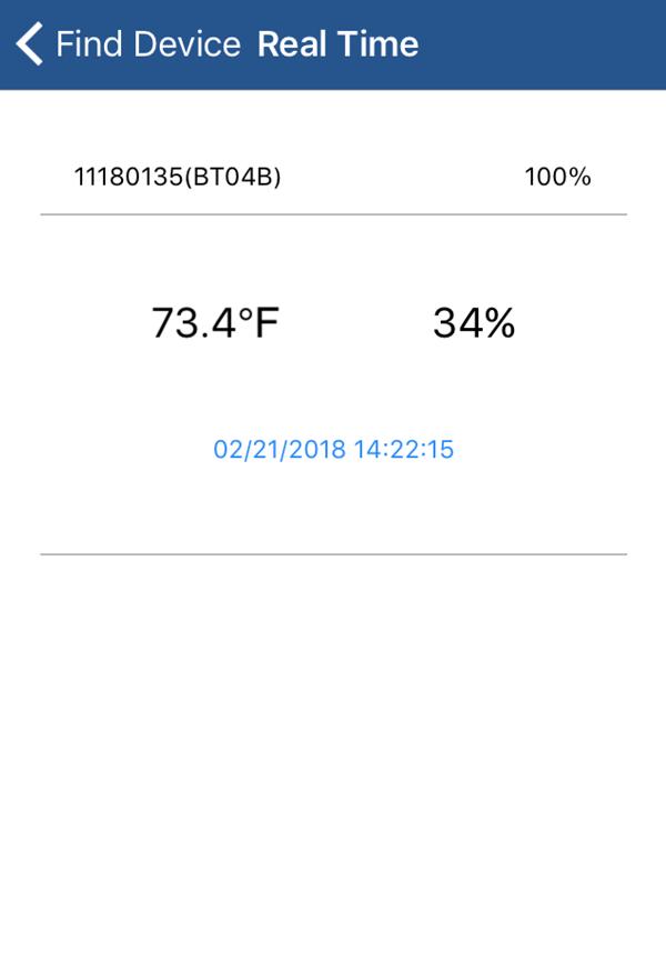 Smartlogger app screenshot enlarged