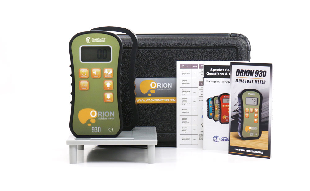 Orion 930 Moisture Meter with Plastic Case and Calibrator Platform