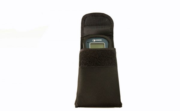 ballistic-style belt-loop holder with moisture meter inside