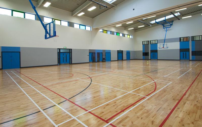 gymnasium wood floor