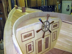 test wood boats for moisture with a moisture meter