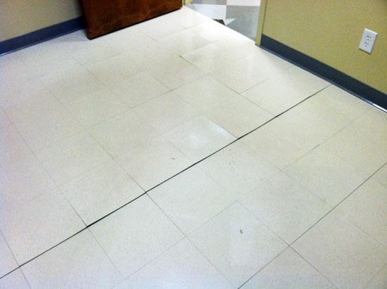 flooring damage due to not testing RH