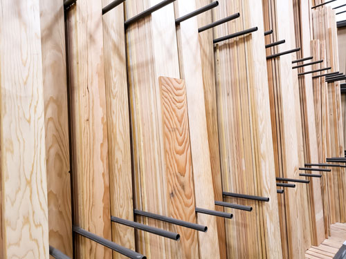 how to store lumber vertically