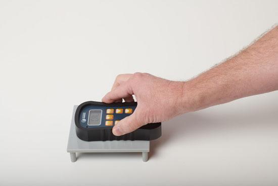pinless moisture meter calibration process