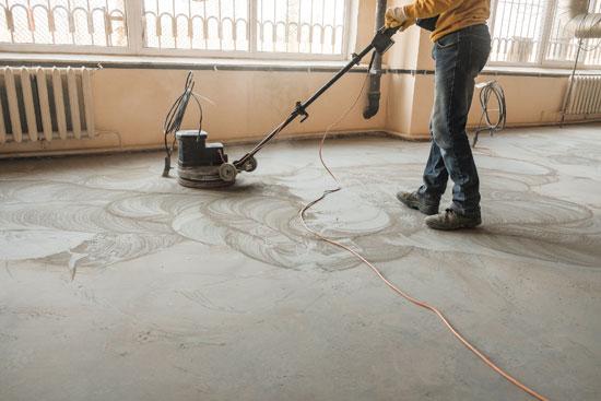 Level Concrete Floor