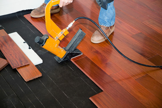 Nail down engineered flooring