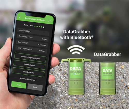 Rapid RH Datagrabber with bluetooth and DataMaster L6 app
